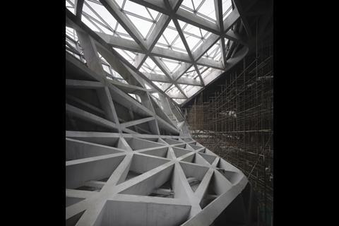 The Guangzhou opera house is all crazy angles, making it challenging to design and build.